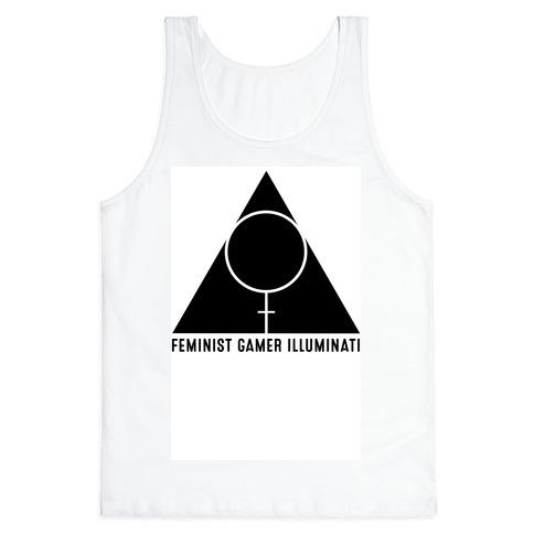 Feminist Gamer Illuminati Tank Top