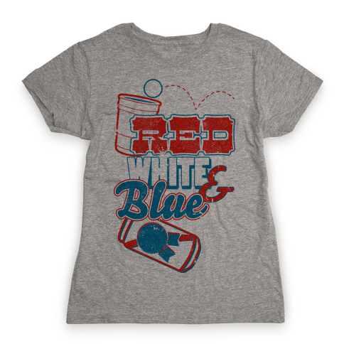 Red White and Blue Womens T-Shirt