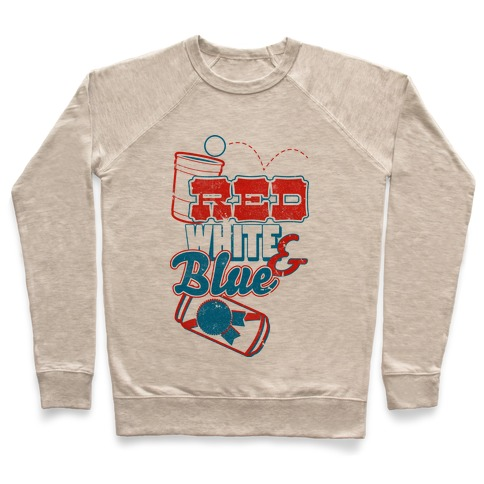 Red White and Blue Pullover