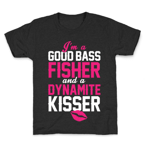 Bass Fisher And Dynamite Kisser Kids T-Shirt