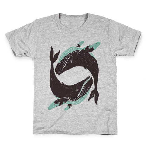 The Circle of Whales Kids T-Shirt