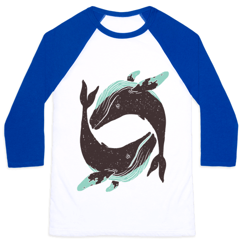 The Circle of Whales Baseball Tee