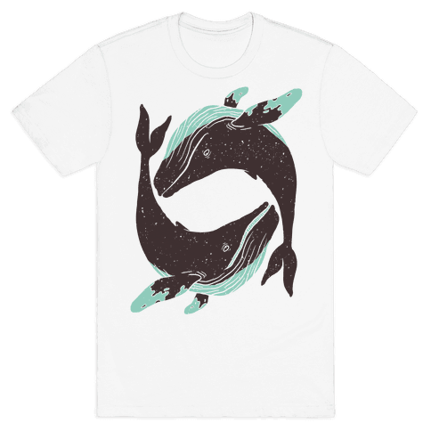 The Circle of Whales Mens T-Shirt