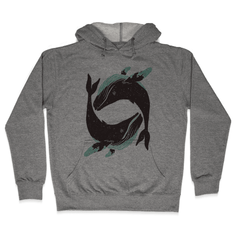 The Circle of Whales Hooded Sweatshirt