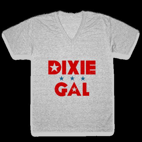 Dixie Gal V-Neck Tee Shirt