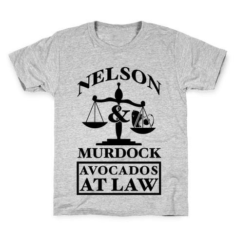 Nelson & Murdock Avocados At Law Kids T-Shirt