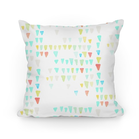 Watercolor Triangles Pillow