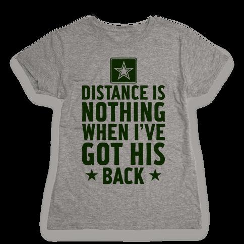 I've Got His Back (Army) Womens T-Shirt