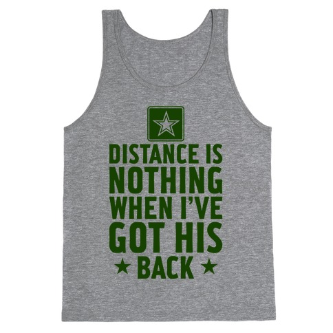 I've Got His Back (Army) Tank Top