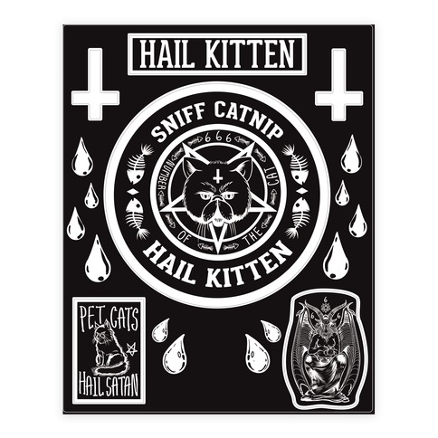 Sniff Catnip Hail Kitten Sticker/Decal Sheet