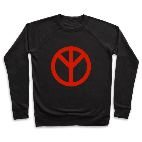 Reversed Peace Sign Pullover