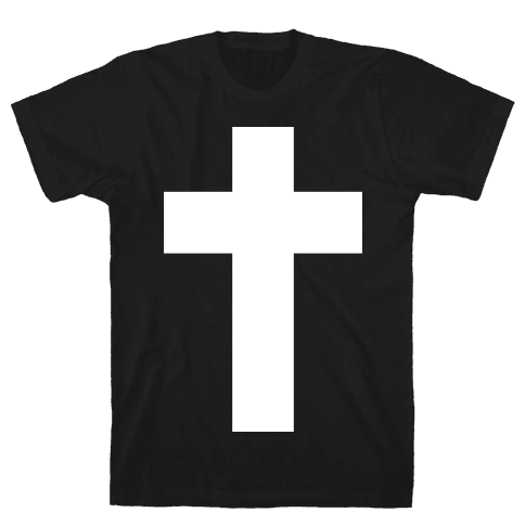 White Cross (Vintage) Mens T-Shirt