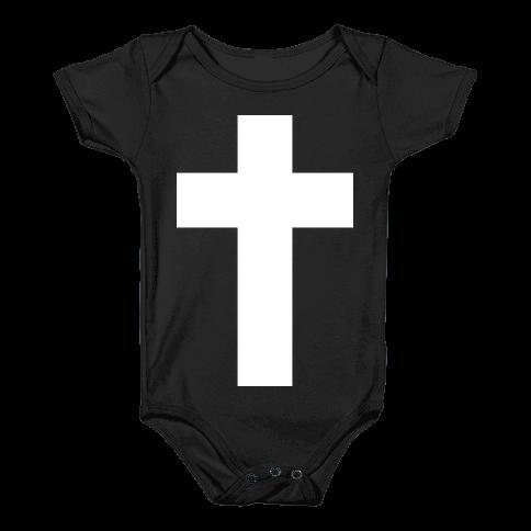 White Cross (Vintage) Baby Onesy