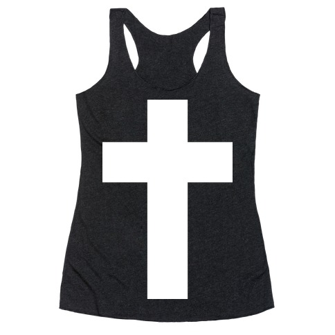 White Cross (Vintage) Racerback Tank Top