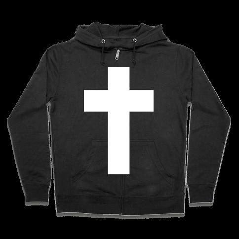 White Cross (Vintage) Zip Hoodie