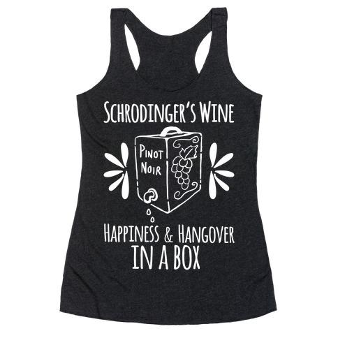 Schrodingers Wine Racerback Tank Top