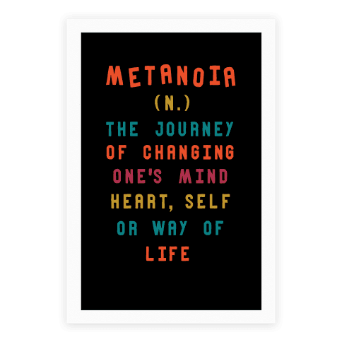 Metanoia Definition Poster