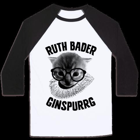 Ruth Bader Ginspurrg Baseball Tee