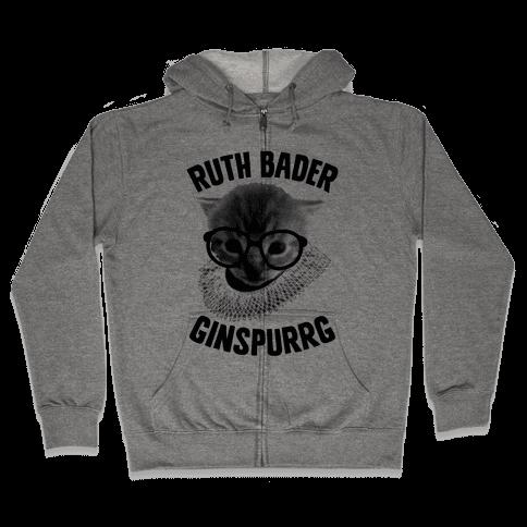 Ruth Bader Ginspurrg Zip Hoodie