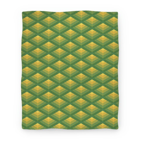 Radiant Fish Scale Pattern Blanket