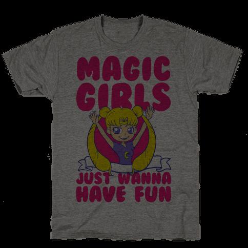 Magical Girls Just Wanna Have Fun Mens T-Shirt