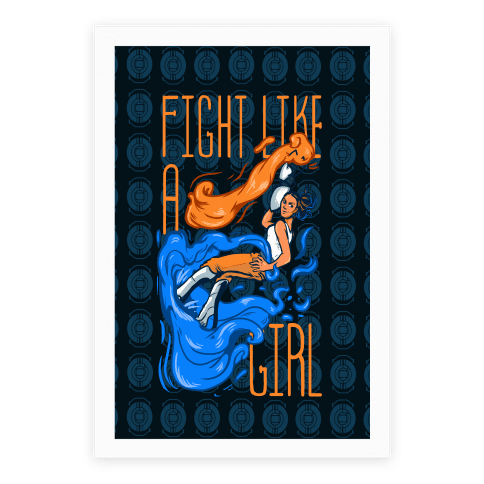 Fight Like a Girl Chell Parody Poster