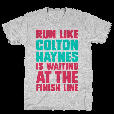 Run Like Colton Haynes is Waiting Mens T-Shirt