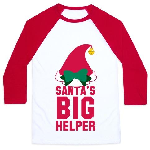 Santa's Big Helper Baseball Tee