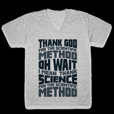 Thank Science  V-Neck Tee Shirt