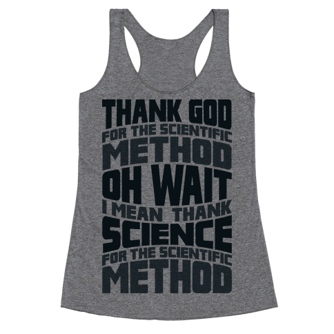Thank Science  Racerback Tank Top