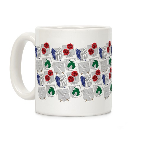 Attack On Titan Insignias Coffee Mug