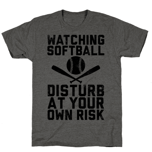Watching Softball (Vintage) Mens T-Shirt