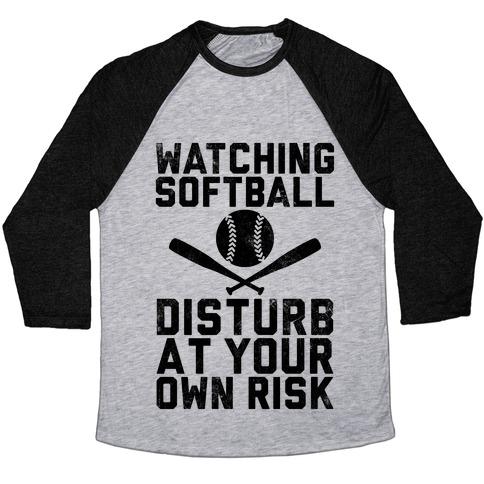 Watching Softball (Vintage) Baseball Tee