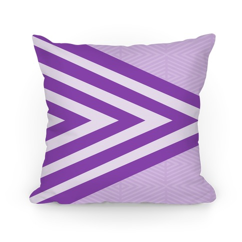 Large Purple Geometric Diamond Pattern Pillow