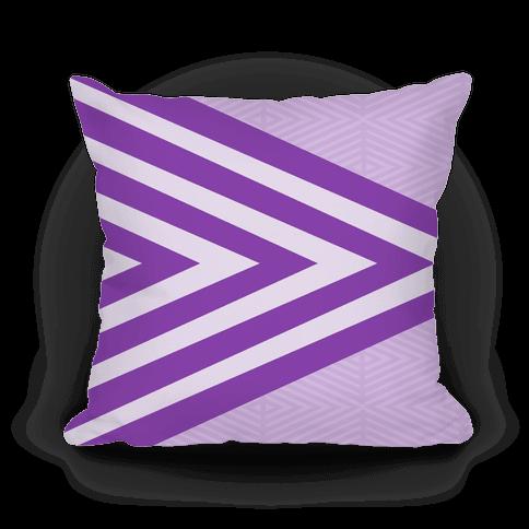 Large Purple Geometric Diamond Pattern Pillow