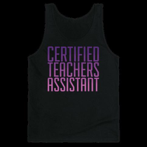 Teachers Assistant Tank Top