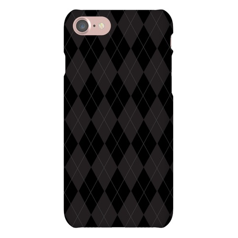 Black Argyle Phone Case