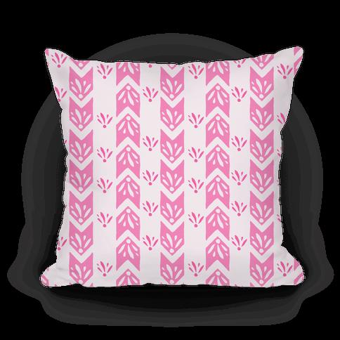 Pink Floral Chevron Pattern