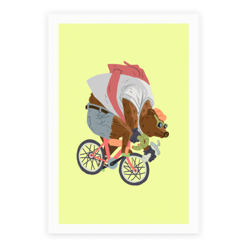 Fixed Gear Bear Poster