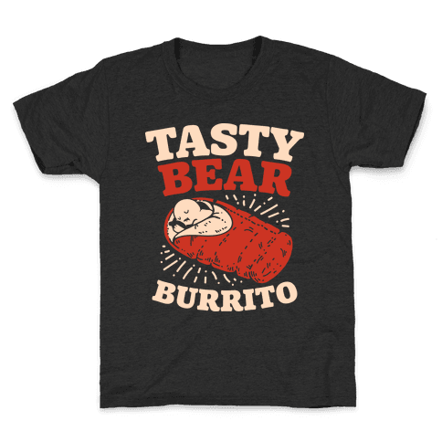 Tasty Bear Burrito Kids T-Shirt