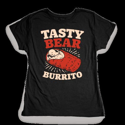Tasty Bear Burrito Womens T-Shirt
