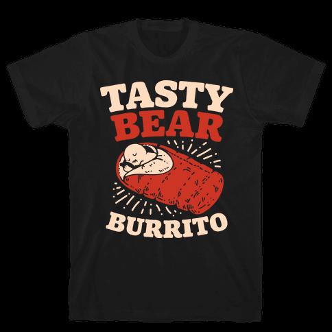 Tasty Bear Burrito Mens T-Shirt