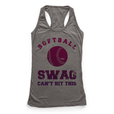 Softball Swag Racerback Tank Top
