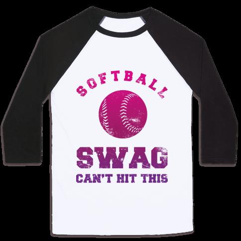 Softball Swag Baseball Tee