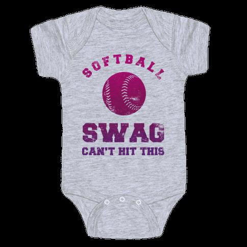 Softball Swag Baby Onesy