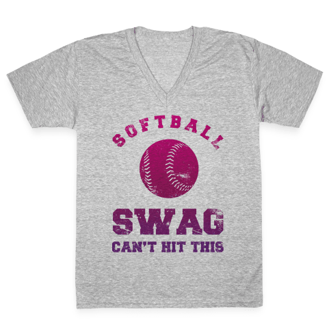 Softball Swag V-Neck Tee Shirt