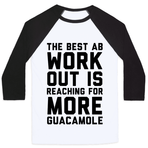 The Best Ab Work Out Baseball Tee