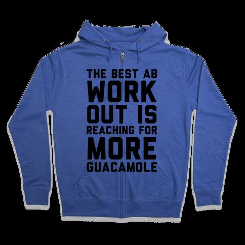 The Best Ab Work Out Zip Hoodie