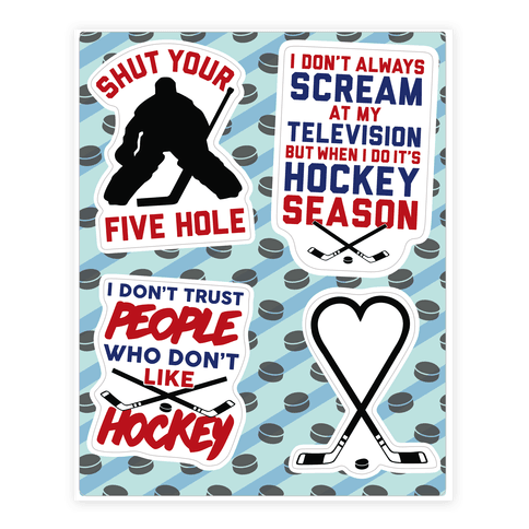 Hockey Fan  Sticker/Decal Sheet