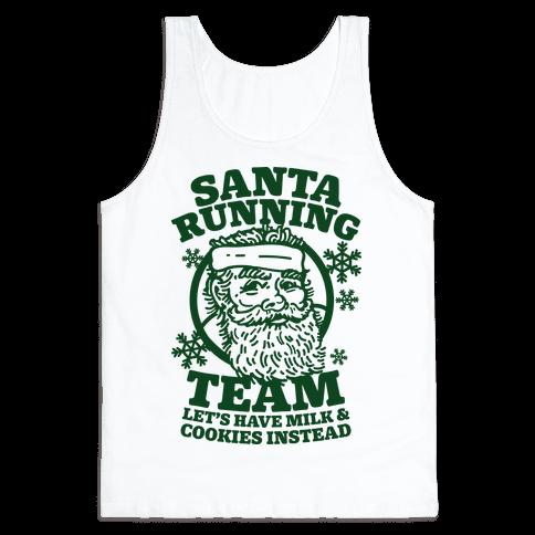 Santa Running Team Tank Top